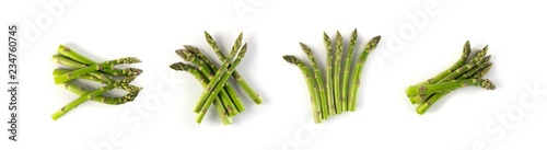 Poster de jardin Légumes frais Bunch of Raw Garden Asparagus with Shadow Isolated