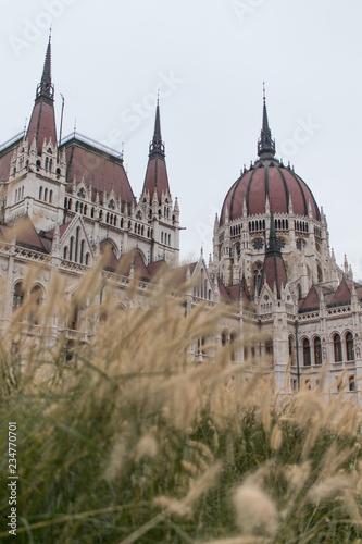Fotografía  Vegetação de outono em frente a prédio histórico em Budapeste
