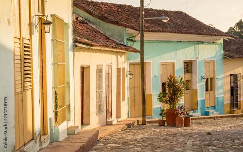 Colonial Street in Sancti Spiritus, Cuba Fototapeta