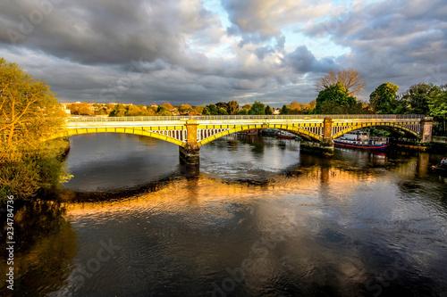 Fotografie, Obraz  Richmond Railway Bridge, Thames River, Richmond, London, UK