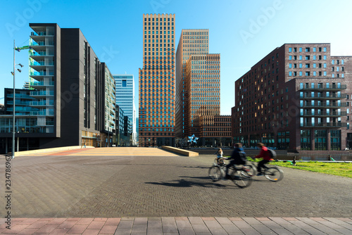 Photo  Office buildings in Amsterdam Zuid, Amsterdam, Netherlands
