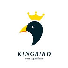 King Penguin Or Bird Head Logo...