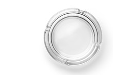 Round Glass Ashtray Isolated O...