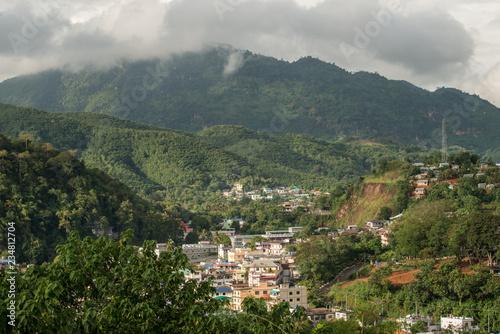 Fotobehang Marokko Beautiful landscape of Tachileik the border town of Myanmar between Chiang Rai province of Thailand.