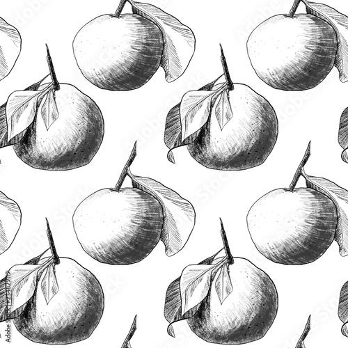 jednolity-wzor-mandarynki-lub-jablka-unikalne-olowkowe-rysunki-owocow-polaczone-w-piekne-kompozycje