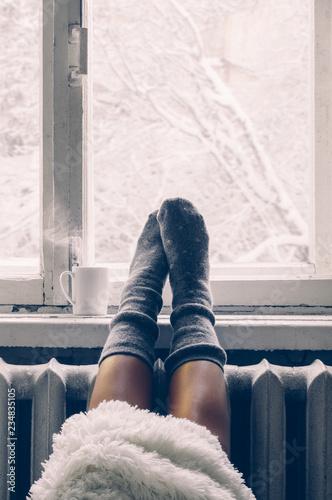 Photo  Cozy winter still life