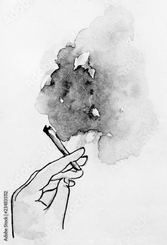 Photo Smoking cigarettes