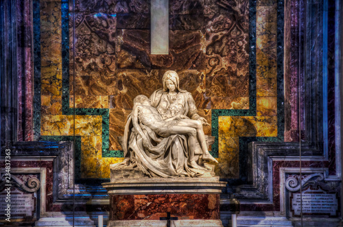 Michelangelo's Pieta at St. Peter's Basilica in the Vatican.