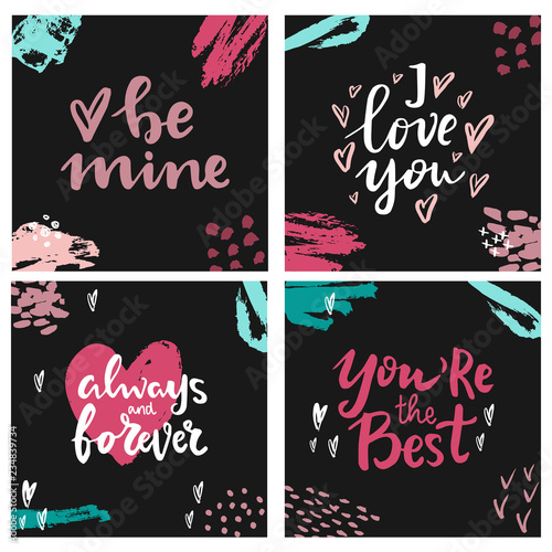 Hand Written Lettering Quotes Hand Drawn Lettering Words Be Mine