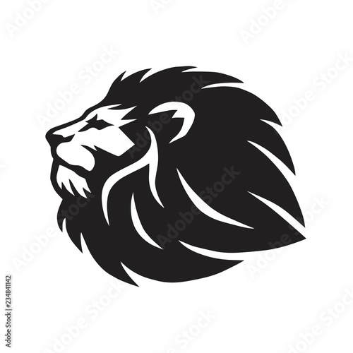 Fototapety, obrazy: Wild Lion Head Vector Icon Logo Template