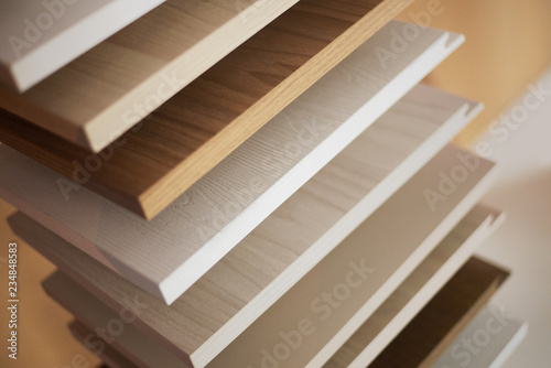 Foto op Plexiglas Trappen Muestras de madera de carpintería