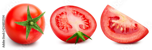 Foto Tomatoes isolated on white