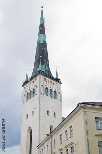 Photo  Saint Olafs Church in Tallinn, Estonia