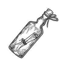 Message In A Bottle Engraving ...