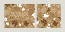 Autumn Set Of Seamless Pattern...