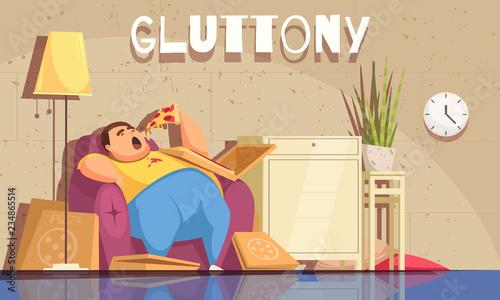 Photo Gluttony Background Illustration
