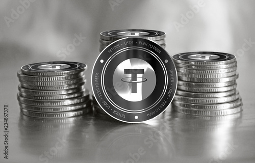Fotografía  Tether (USDT) digital crypto currency