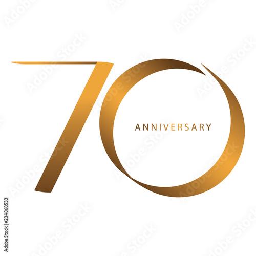 Photographie  Handwriting, Celebrating, anniversary of number 70th year anniversary, birthday