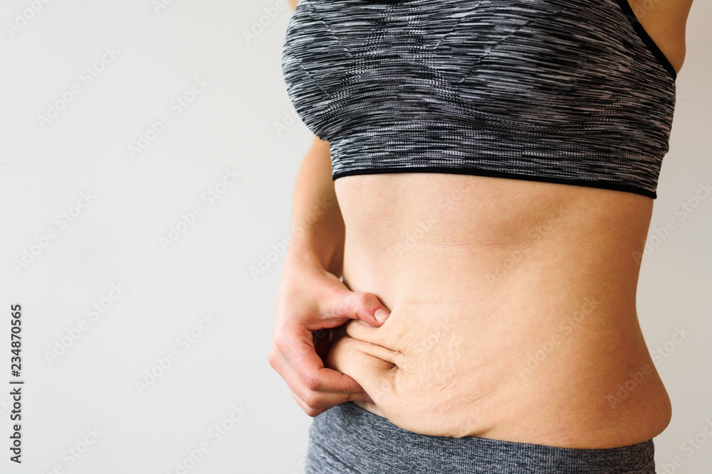 Fototapety, obrazy: Woman belly after dieting