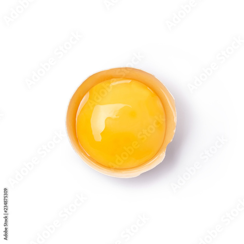 Fototapeta Broken egg cut out. Top view. obraz