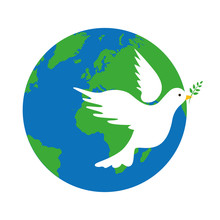 Earth And White Dove Peace Sym...