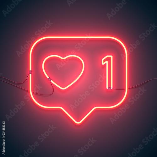 Fotografiet neon sign like heart
