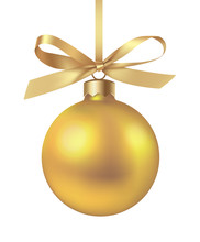 Decorative Yellow Christmas Ba...