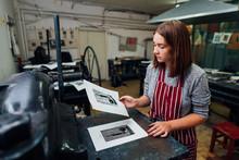 Linocut. Manual Printing On Th...