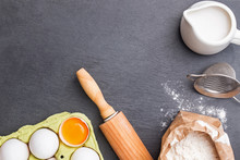 Baking Ingredients And Tools O...