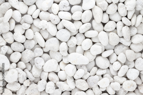 Photo  White pebbles stone texture and background