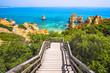 Leinwandbild Motiv Beautiful bay near Lagos town, Algarve region, Portugal