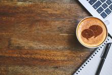 Coffee Mug With Chat Web Icon,...