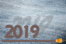 New Year 2019 Concept Jeans