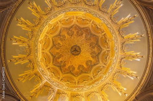 TURIN, ITALY - MARCH 16, 2017: The cupola of church Chiesa della Madonna degli Angeli by Carlo Ceppi (1908 - 1911).