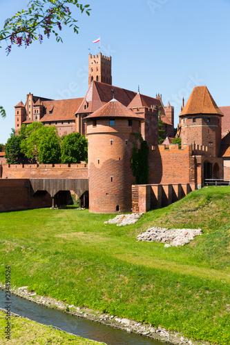 obraz PCV Image of medieval Malbork Castle