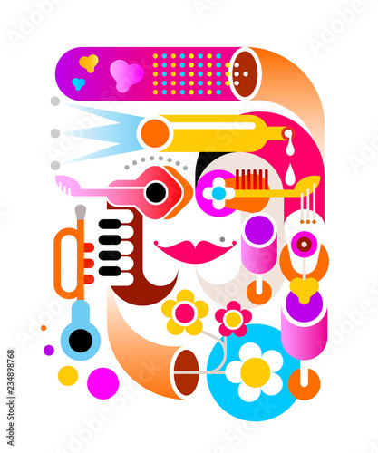 In de dag Abstractie Art Music abstract vector artwork