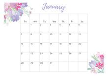 Vintage Floral Calendar 2018 W...