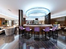 Luxurious Bar Set With Purple ...
