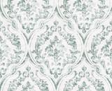 Vintage flourish ornamented pattern Vector. Victorian Royal texture. Flower decorative design. Light green color decors - 234903593