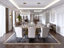 Luxurious Dining Room With A L...