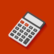 Electronic Calculator In Flat ...