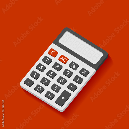 Fotomural  Electronic calculator in flat style with shadow