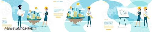 Architect Company Vector Horizontal Scroll Webpage