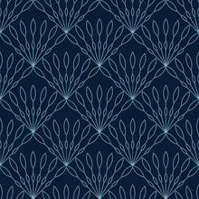Simple Seamless Art Deco Geometric Illustration Pattern Wallpaper