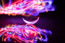 Kristallkugel Mit Lichterspiel