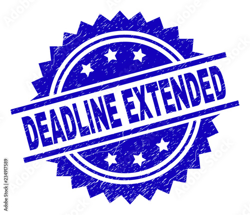 DEADLINE EXTENDED stamp seal watermark with distress style Fototapet