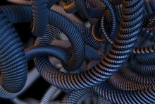 Metal Snake, Abstract 3D Visualization