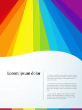 Colorful Rainbow Vector Bakcground