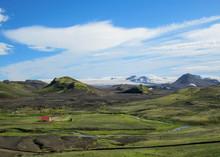 Hvanngil Green Valley In The H...