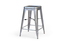 Metal Bar Stool With Step. 3d ...